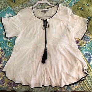 valerie stevens white sheer blouse